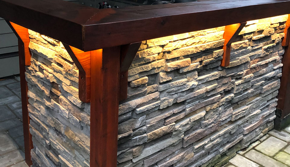 Outdoor Bar and Bbq Station by A Stone's Throw Masonry In Nanaimo
